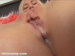 Watch Julia's Orgasm and Pussy Juices in Close Up